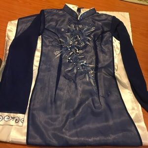 Dresses & Skirts - Blue and White Vietnamese Garment